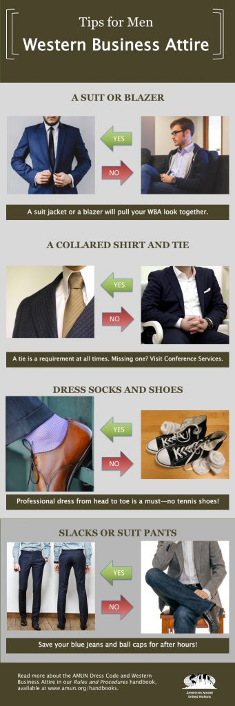 9dbeb1d37fb0 Dress for Success: Western Business Attire - AMUN
