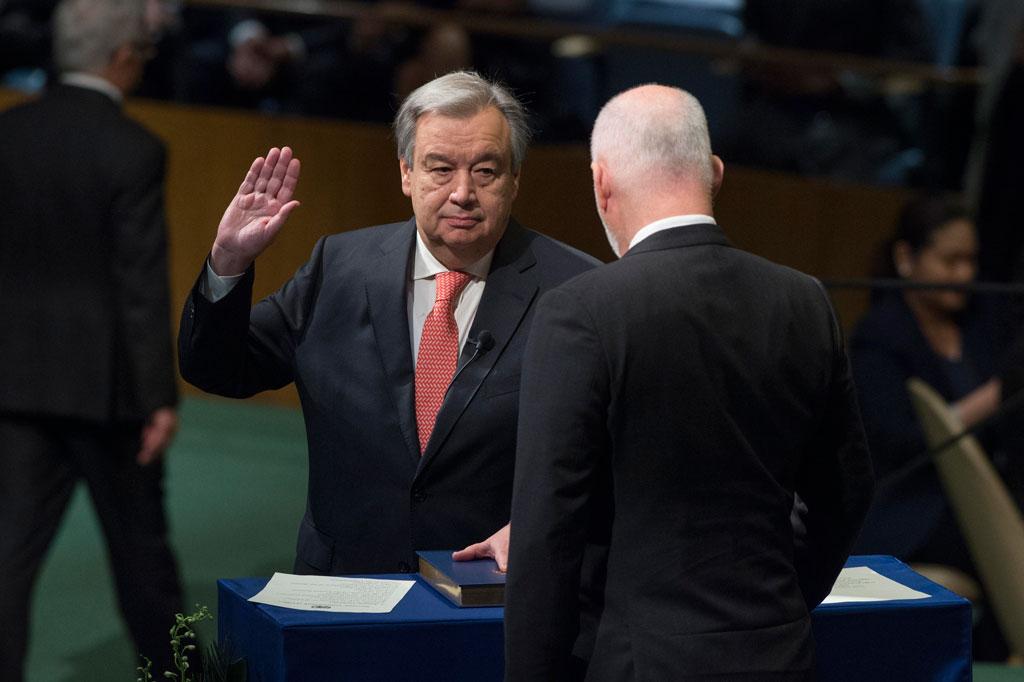 Guterres swearing in