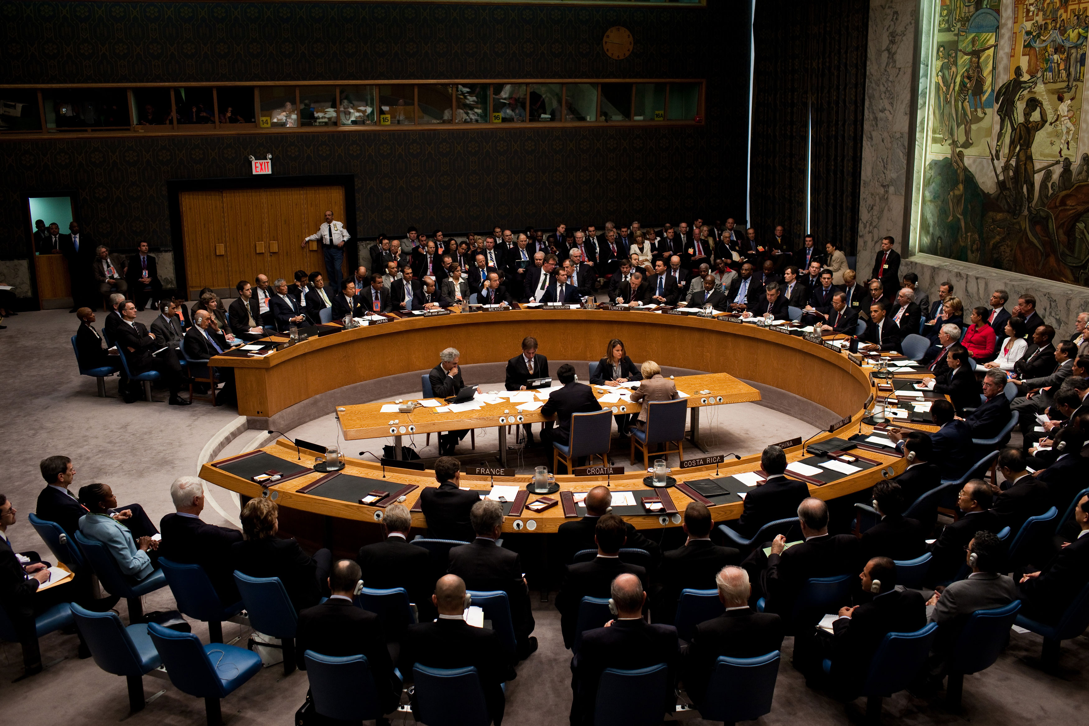 U.S. President Barack Obama chairs the United Nations Security Council.