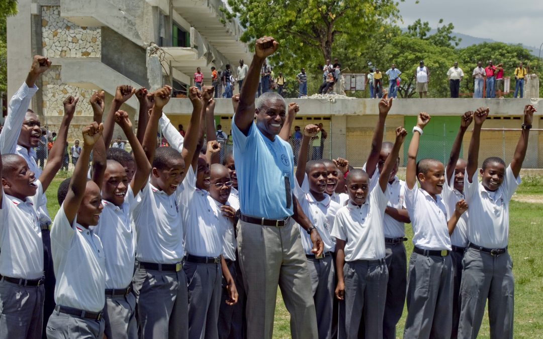Food and Agriculture Organization Good Will Ambassador Carl Lewis visits Haiti