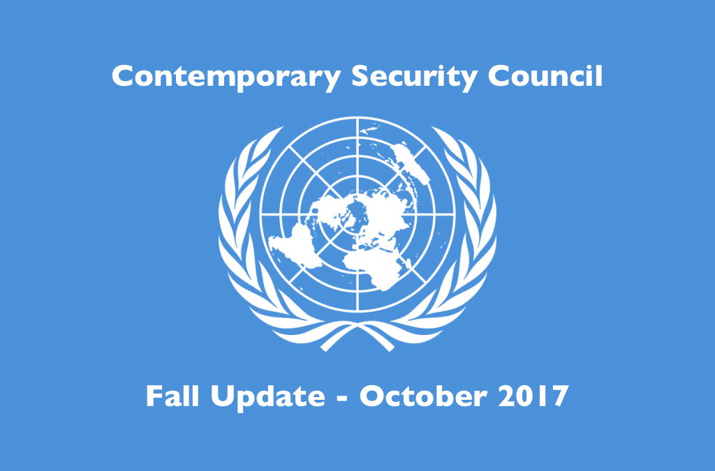2017 Contemporary Security Council Fall Update